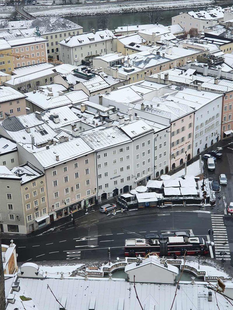 Salzburg im Schnee