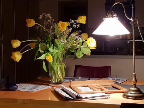 Schreibtisch eines Schriftstellers